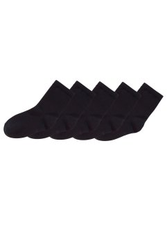 Socken (5er-Pack), bpc bonprix collection, schwarz