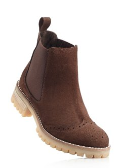 Lederchelseaboot, bpc bonprix collection, dunkelbraun