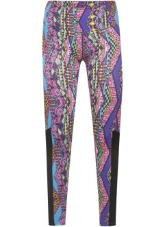 Legging fitness, roxo estampado
