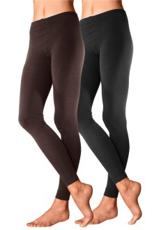 Lavana Thermoleggings (2er-Pack), LAVANA, schwarz + braun