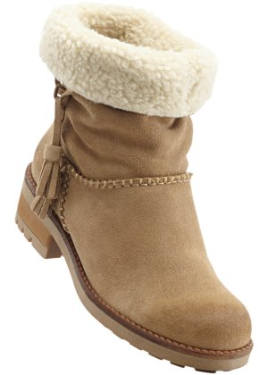 Lederstiefel, bpc bonprix collection, taupe