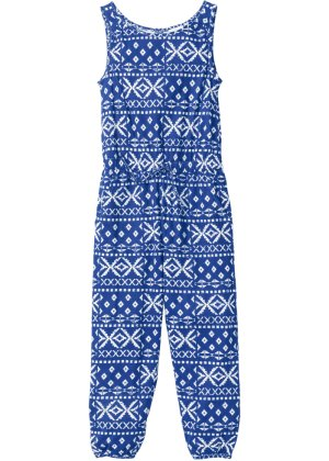 Jumpsuit, bpc bonprix collection, blau gemustert