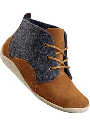 Schnürstiefelette, bpc selection, camel/anthrazit