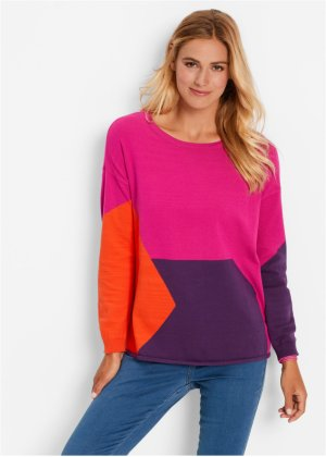 Pullover mit Patchwork, bpc bonprix collection