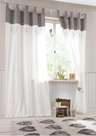 vorhang lenya kr uselband grau bpc living. Black Bedroom Furniture Sets. Home Design Ideas