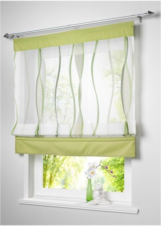 raffrollo jane mit farbigen akzenten und liebe f rs. Black Bedroom Furniture Sets. Home Design Ideas