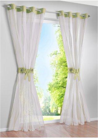 stilsichere gardine jane f r lichte momente gr n 1er pack sen. Black Bedroom Furniture Sets. Home Design Ideas