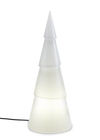 F r eine weihnachtliche stimmung der beleuchtete for Beleuchteter tannenbaum