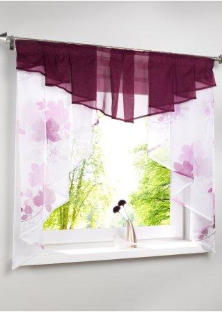 dunja romantische fensterdekoration aus voile f r ihre. Black Bedroom Furniture Sets. Home Design Ideas