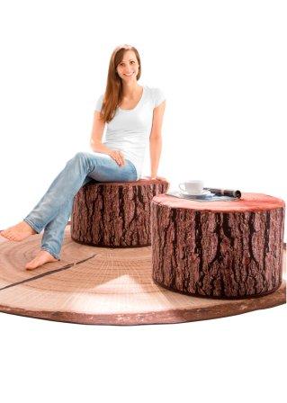 tolle wellness shirthose mit ansprechend bedrucktem umschlagbund mattbrombeer. Black Bedroom Furniture Sets. Home Design Ideas