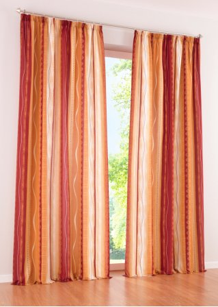 vorhang mexico frische farben mit wohnlichem charakter terracotta kr uselband. Black Bedroom Furniture Sets. Home Design Ideas