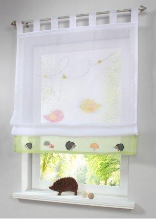 raffrollo berta schlaufen wei gr n bpc living online. Black Bedroom Furniture Sets. Home Design Ideas
