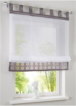 raffrollo athen mit schlaufen grau bpc living online. Black Bedroom Furniture Sets. Home Design Ideas