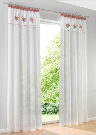 vorhang elina 1er pack kr uselband rot bpc living online bestellen. Black Bedroom Furniture Sets. Home Design Ideas