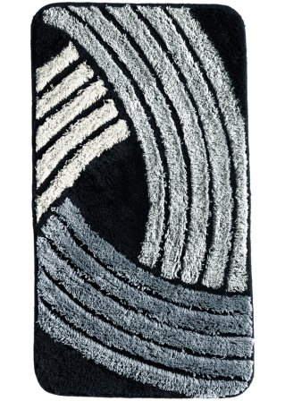 badematte fenja geschwungene linien in aktuellen farben schwarz weiss. Black Bedroom Furniture Sets. Home Design Ideas