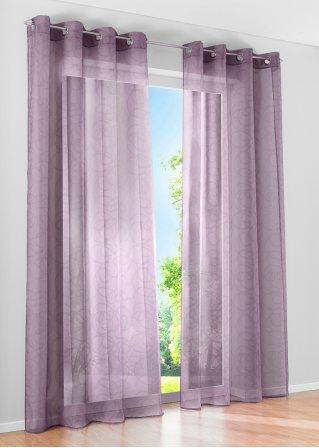 gardine vivien im topmodernen ton in ton design lila. Black Bedroom Furniture Sets. Home Design Ideas