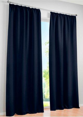 licht und sichtschutz am tag und in der nacht mit dem vorhang verdunkelung blau 1er pack. Black Bedroom Furniture Sets. Home Design Ideas