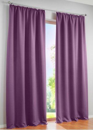 licht und sichtschutz am tag und in der nacht mit dem vorhang verdunkelung flieder 1er. Black Bedroom Furniture Sets. Home Design Ideas