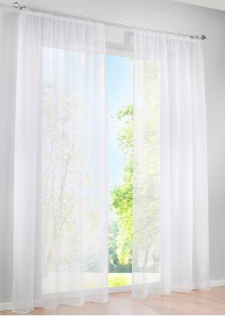 sch ne aussichten die transparente voile gardine uni in. Black Bedroom Furniture Sets. Home Design Ideas