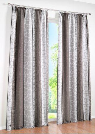 sch nes und zeitloses design mit dem bedruckten vorhang estelle grau 1er pack kr uselband. Black Bedroom Furniture Sets. Home Design Ideas