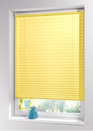 unifarbenes plisseerollo ohne bohren f r ihr kleinfenster gelb. Black Bedroom Furniture Sets. Home Design Ideas