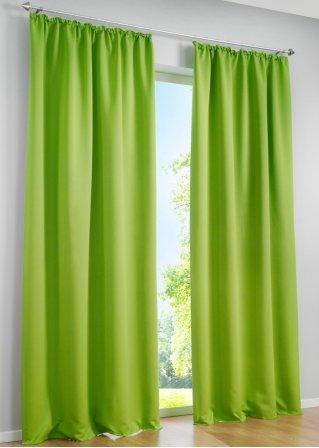 licht und sichtschutz am tag und in der nacht mit dem vorhang verdunkelung gr n 1er pack. Black Bedroom Furniture Sets. Home Design Ideas