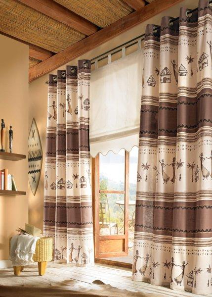 Gardinen deko gardinen vorh nge inspiration gardinen - Gardinen afrika look ...