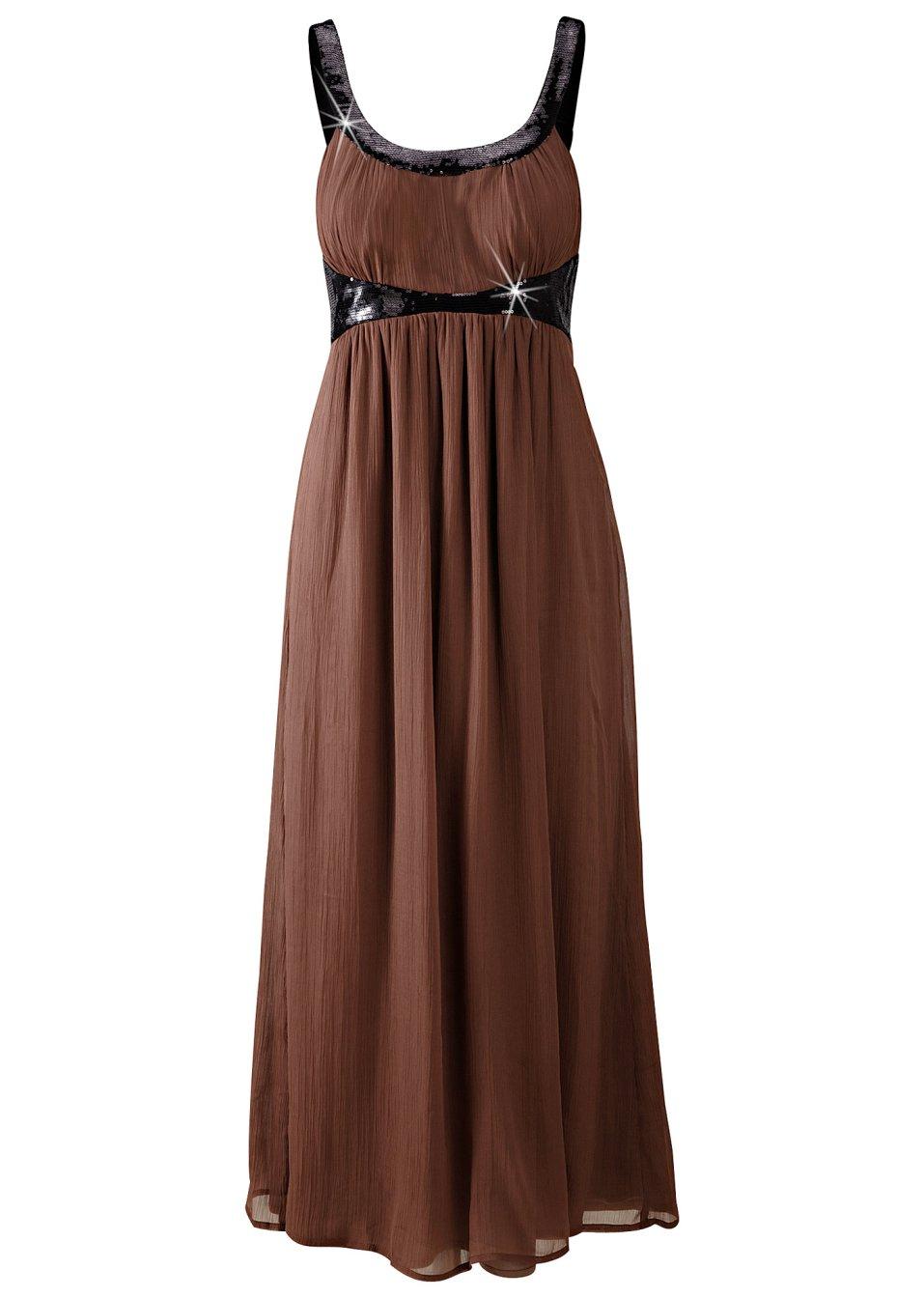 robe longue marron femme bonprix. Black Bedroom Furniture Sets. Home Design Ideas