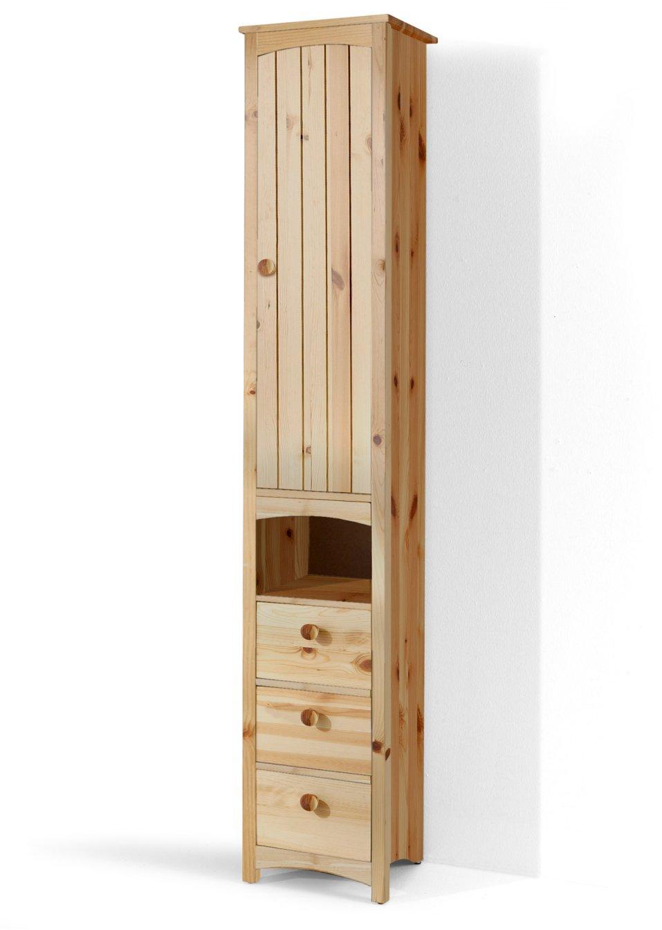 platzsparender schmaler hochschrank paula natur schmal. Black Bedroom Furniture Sets. Home Design Ideas