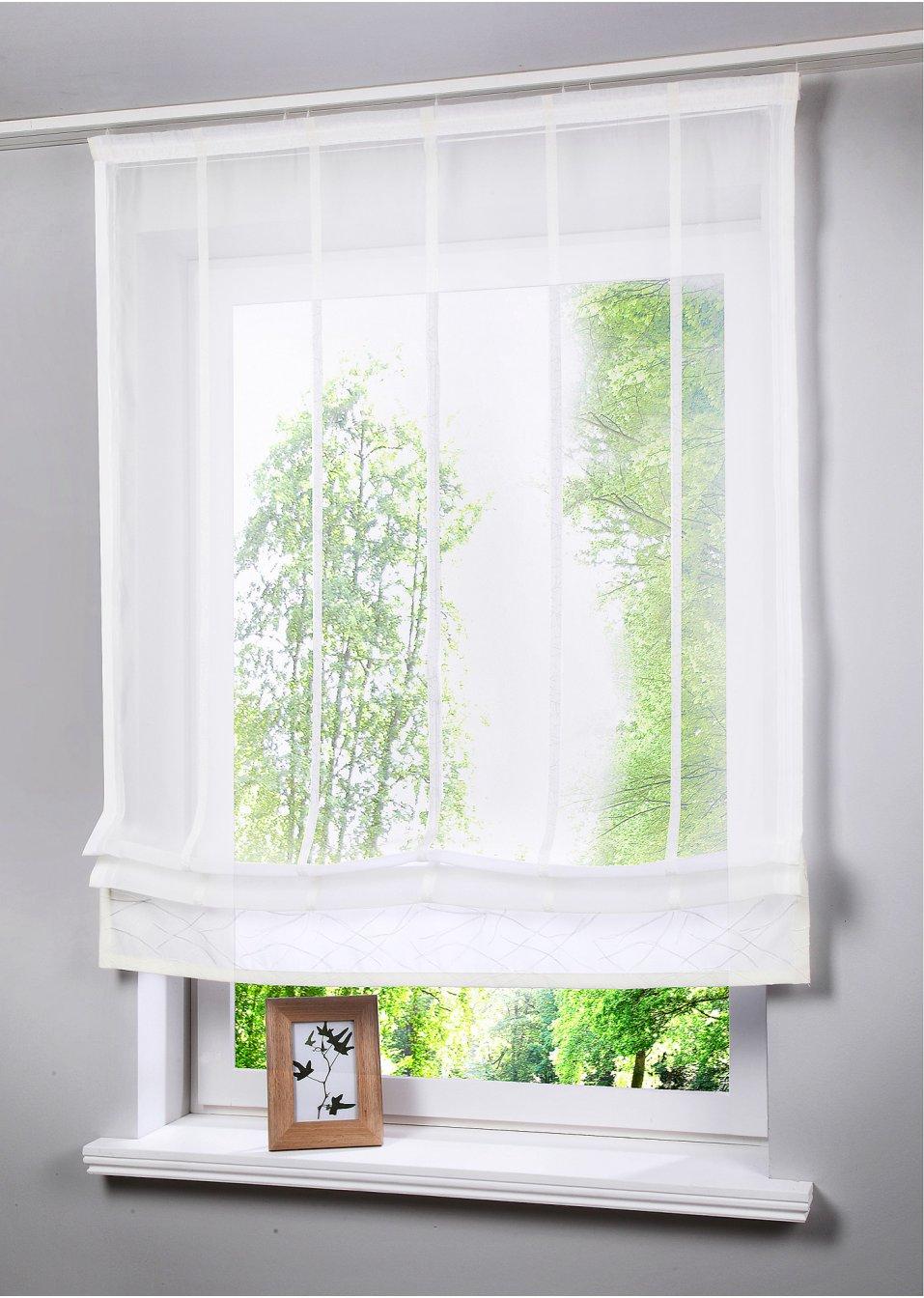 raffrollo mare klettschiene creme bpc living online. Black Bedroom Furniture Sets. Home Design Ideas