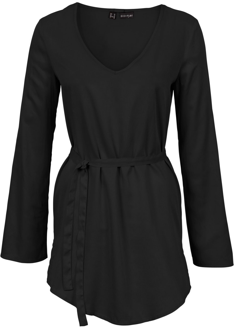 tunika bluse mit schluppe schwarz damen. Black Bedroom Furniture Sets. Home Design Ideas
