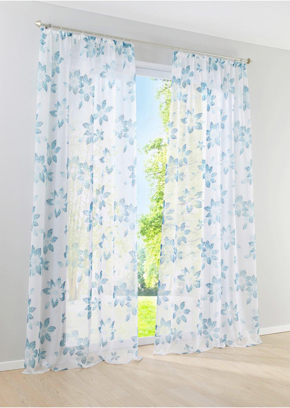 voilage maria 1 pce galon fronceur bleu ciel bpc living commande online. Black Bedroom Furniture Sets. Home Design Ideas
