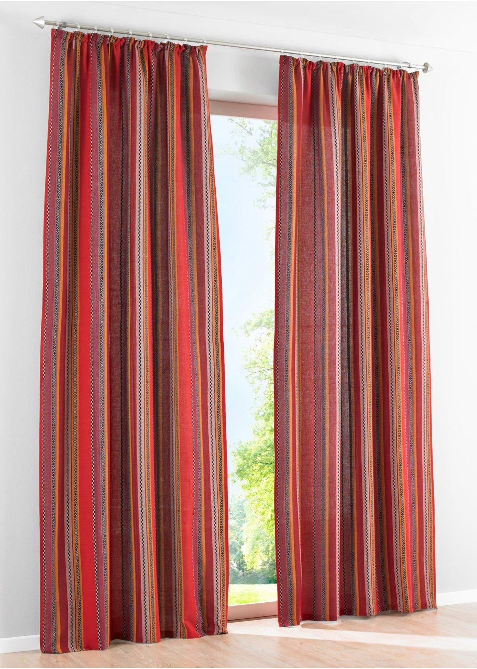 vorhang mexican 1er pack kr uselband rot bpc living online bestellen. Black Bedroom Furniture Sets. Home Design Ideas