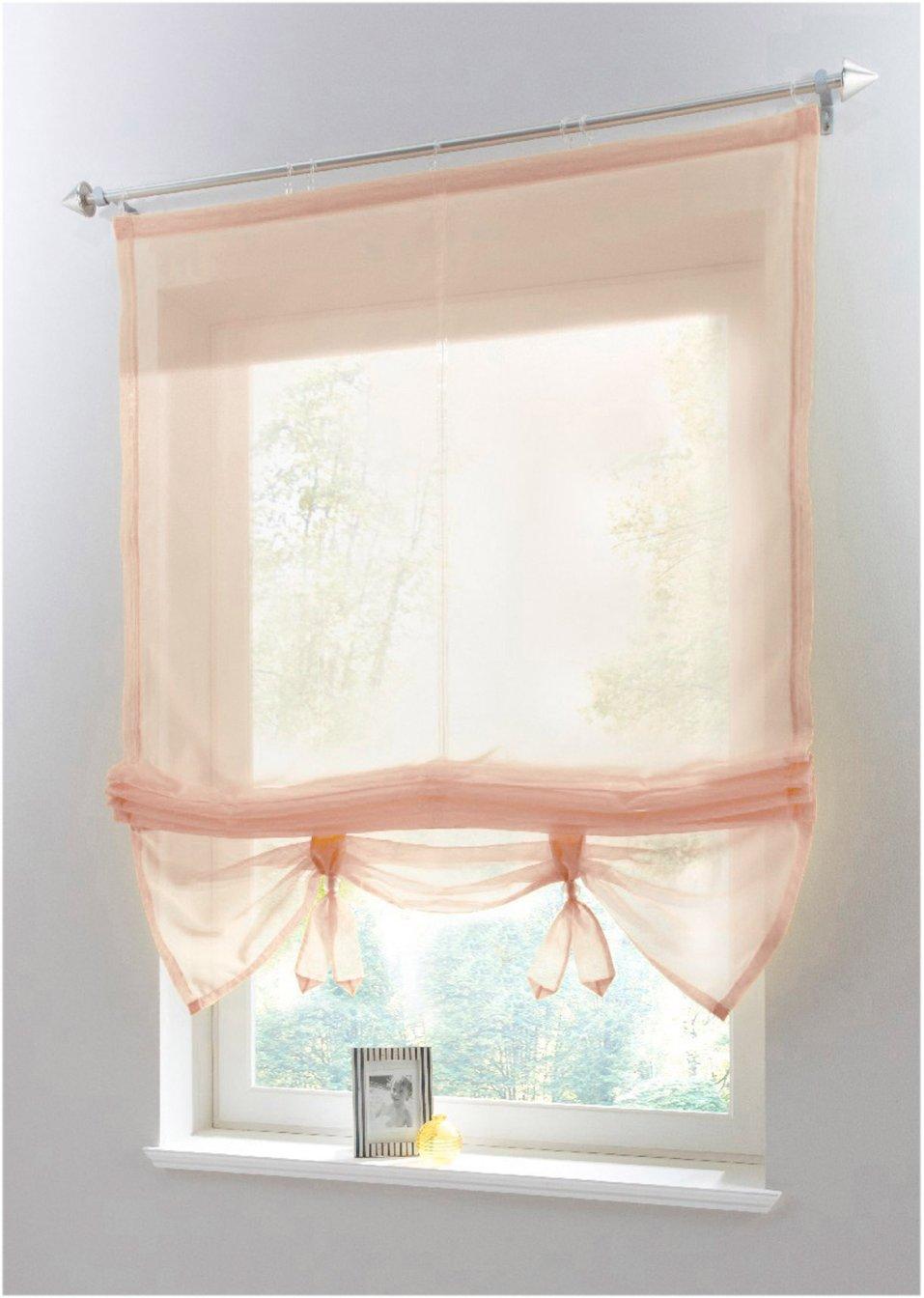 raffrollo liane sch ne fenster leichtgemacht sand klettschiene. Black Bedroom Furniture Sets. Home Design Ideas