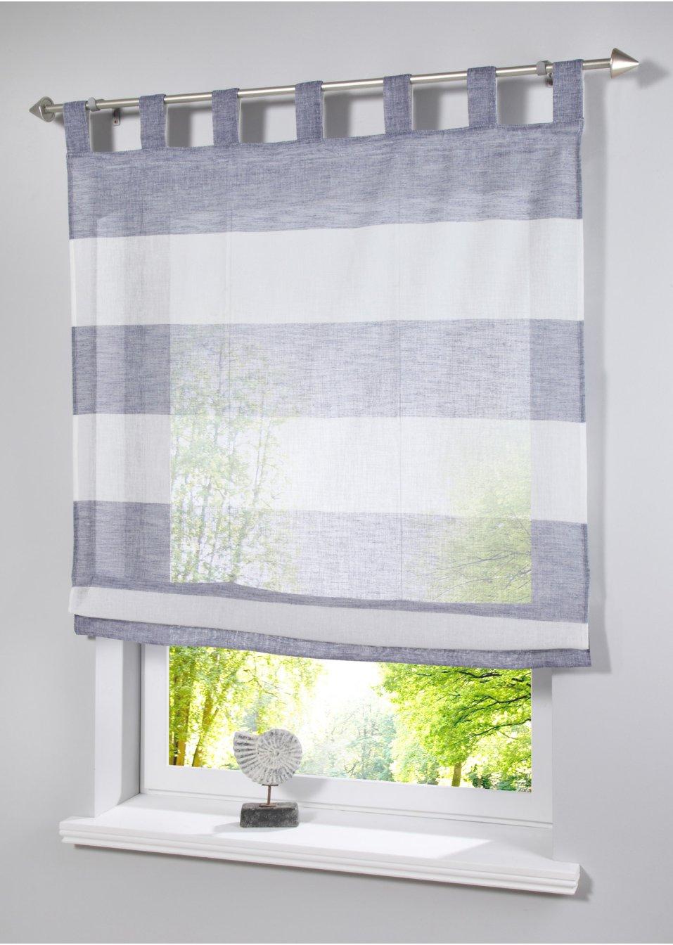 raffrollo mick schlaufen blau wohnen bpc living. Black Bedroom Furniture Sets. Home Design Ideas