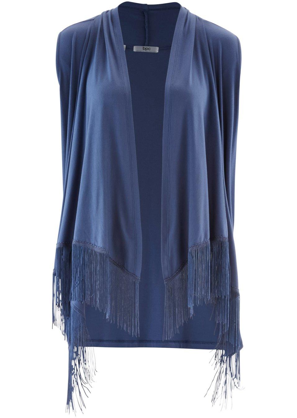 shirt weste mit fransen indigo bpc bonprix collection. Black Bedroom Furniture Sets. Home Design Ideas