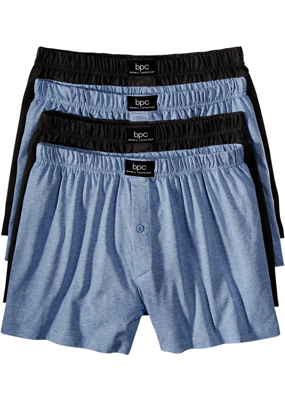 Cale ons lot de 4 bleu jean chin noir bpc bonprix collection commande - Bonprix suivi de commande ...