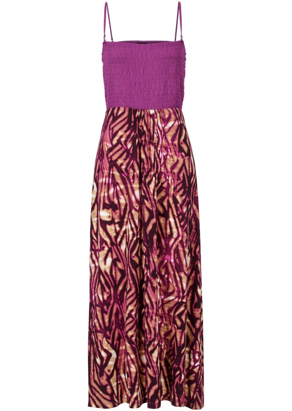 Robe bustier violet fonc imprim bodyflirt commande online - Bonprix suivi de commande ...