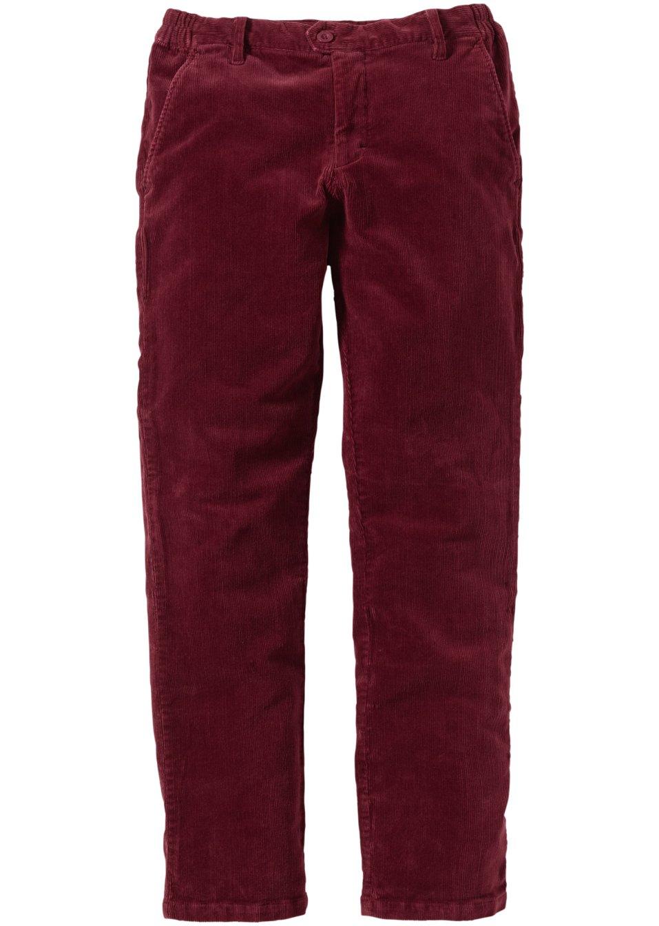 Pantalon en velours c tel slim fit bordeaux homme - Pantalon velours cotele homme ...