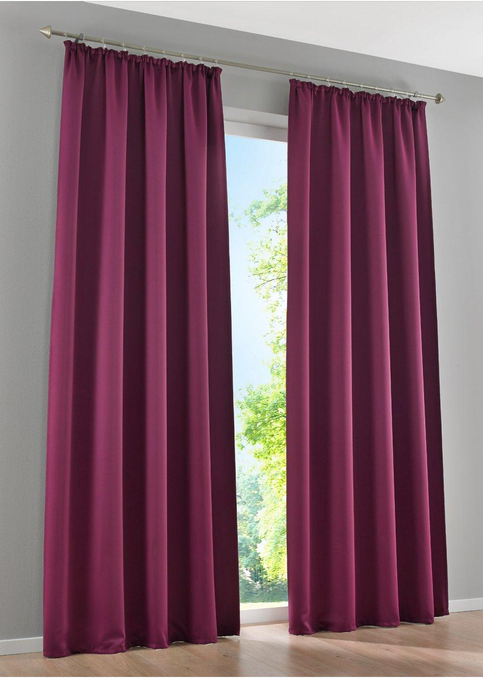 licht und sichtschutz am tag und in der nacht mit dem vorhang verdunkelung beere 1er pack. Black Bedroom Furniture Sets. Home Design Ideas