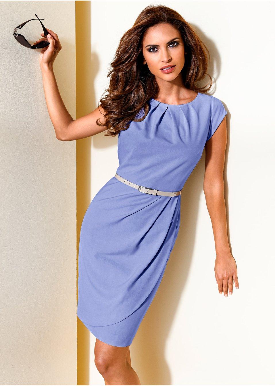 vestido tubinho azul claro moda feminina. Black Bedroom Furniture Sets. Home Design Ideas