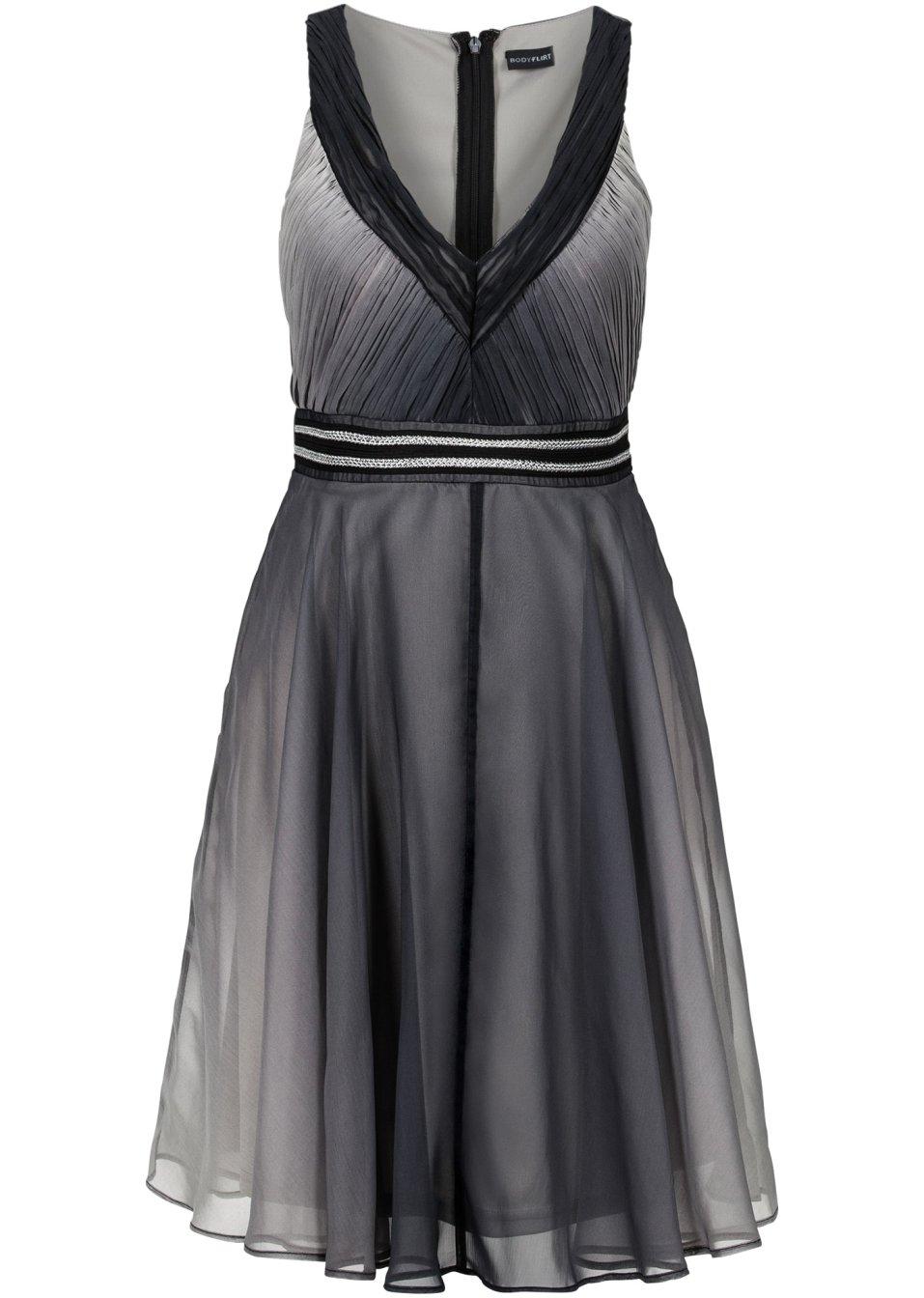 leichtes schwingendes kleid mit sch nem farbverlauf schwarz. Black Bedroom Furniture Sets. Home Design Ideas