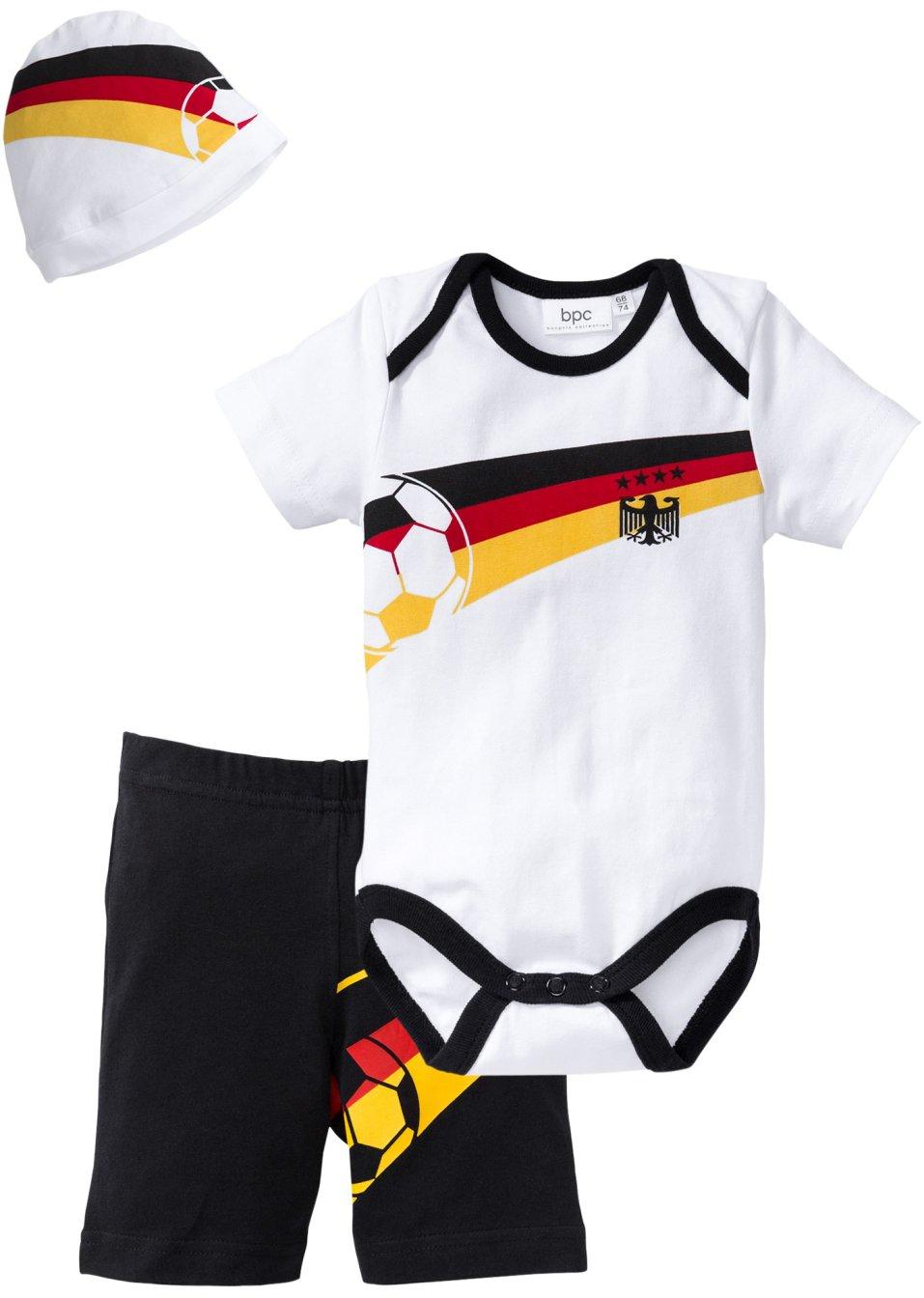 baby deutschland set 3 tlg bio baumwolle gr 56 62 92. Black Bedroom Furniture Sets. Home Design Ideas