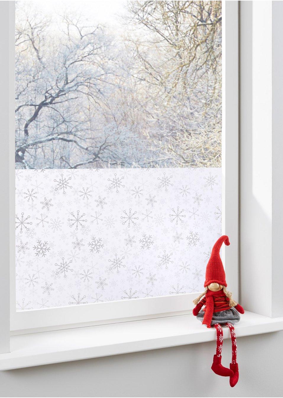 winterlichte fenster sichtschutzfolie schneeflocke. Black Bedroom Furniture Sets. Home Design Ideas