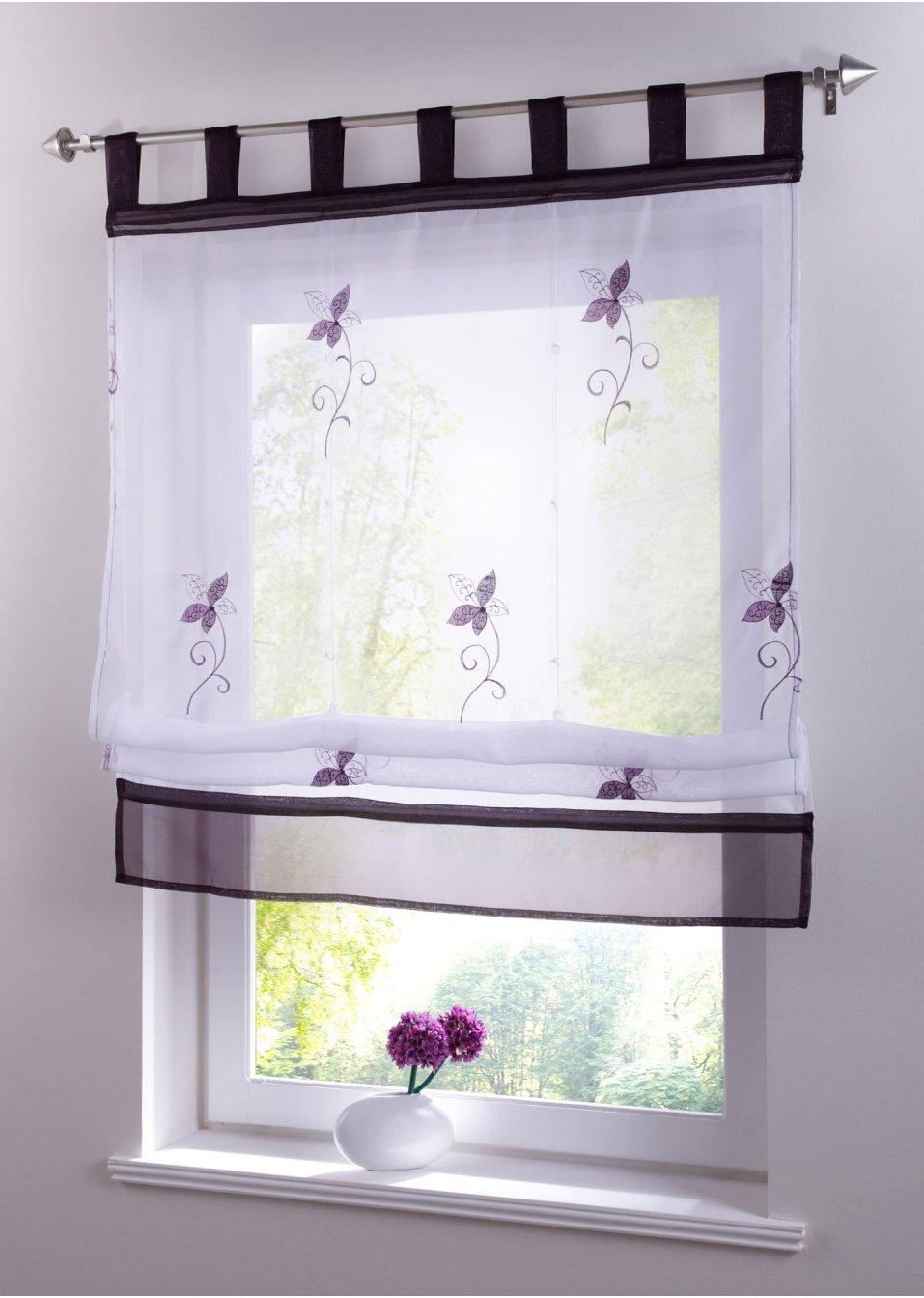 mit dem raffrollo maja erhalten sie einen traumhaften ausblick lila schlaufen. Black Bedroom Furniture Sets. Home Design Ideas