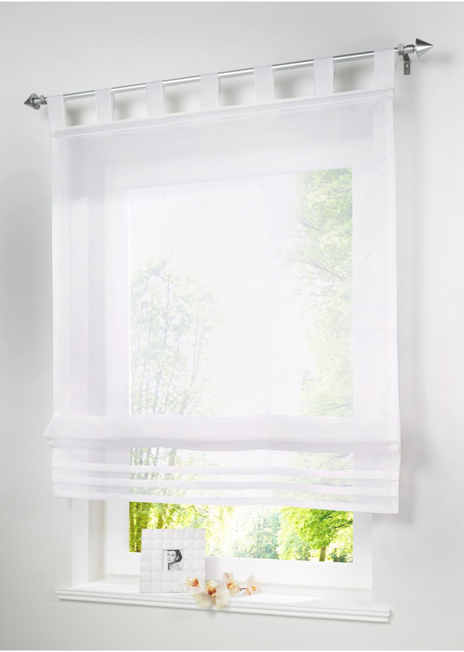 eine hauchzarte idee f r ihr fenster das luftig leichte raffrollo lea wei schlaufen. Black Bedroom Furniture Sets. Home Design Ideas