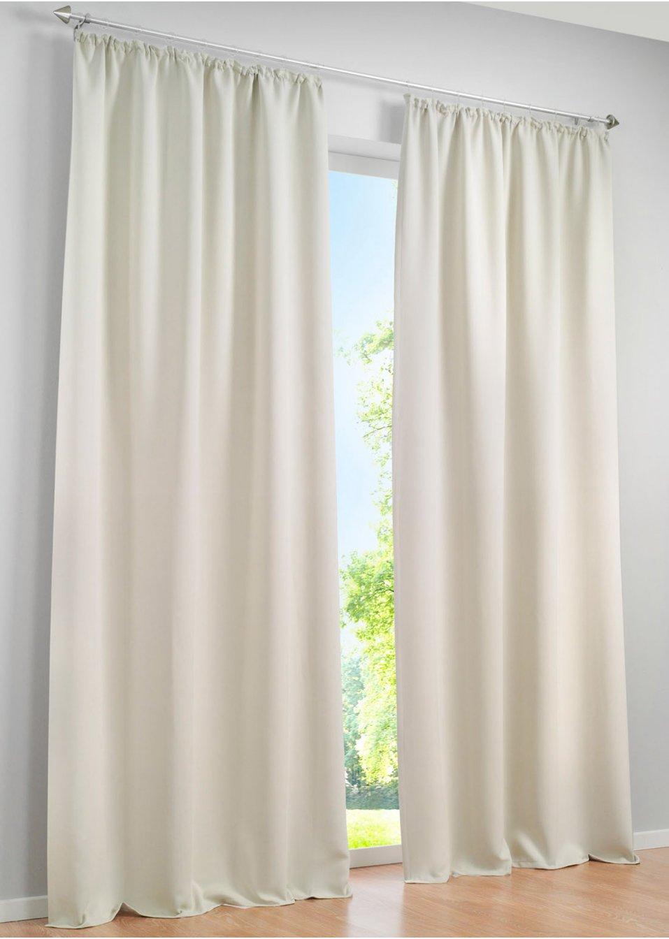 licht und sichtschutz am tag und in der nacht mit dem vorhang verdunkelung beige 1er pack. Black Bedroom Furniture Sets. Home Design Ideas