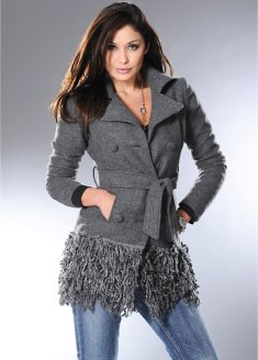 Vintage style wool coat