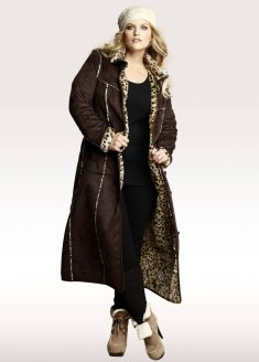 Leopard lined coat