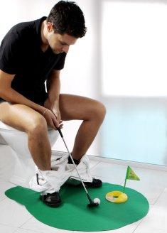 Toiletten Golf-Spiel